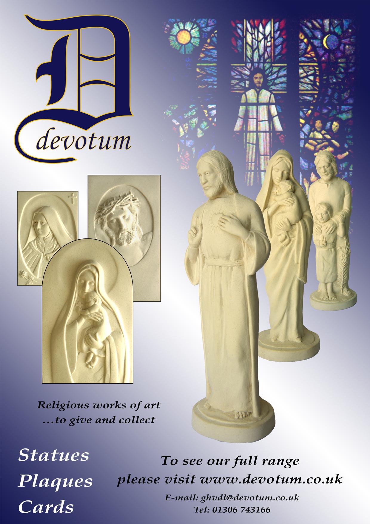 Devotum - Religious Statues, Plaques and cards - Online Shop